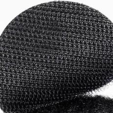 801011 -klittenband rondjes zwart haak