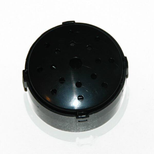 Praatknop, rond en in de kleur zwart met 30 seconden opnametijd