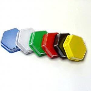 Praatknop zeshoekig met verwisselbare afbeelding