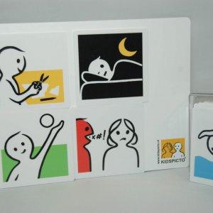 Kidspicto werkplaat voor magnetische pictogrammen