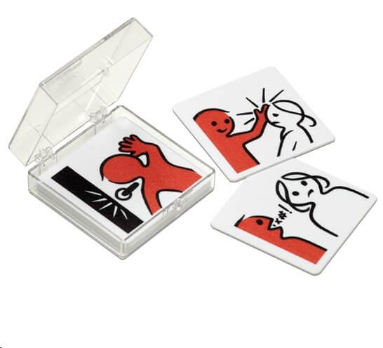 Pictogrammen ongewenst gedrag van Kidspicto. Deze set bestaat uit 7 pictogrammen van ongewenst gedrag met daarbij 1 blanco pictogram.