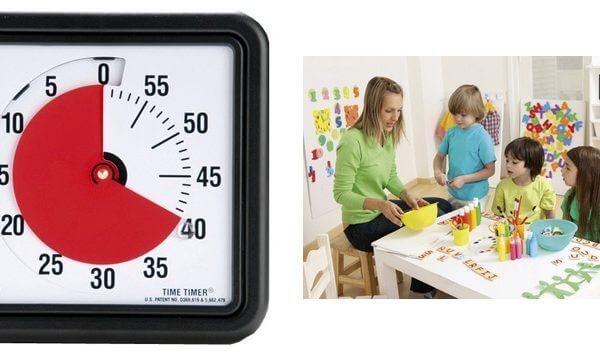 Time Timer medium met eindsignaal en zonder hinderlijk tik geluid
