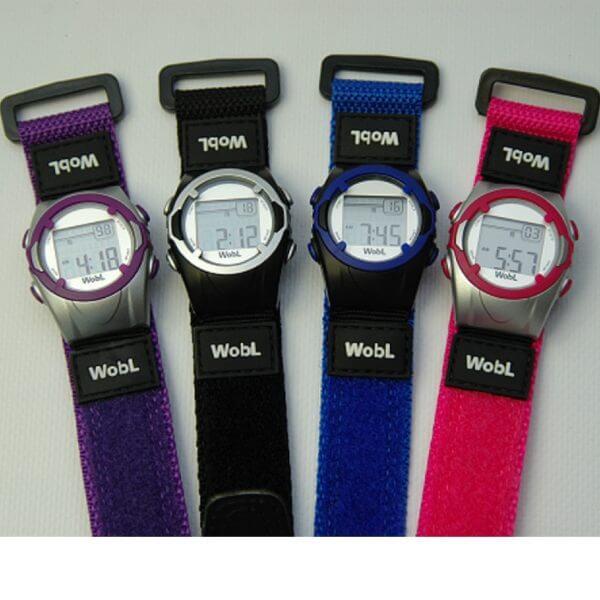 Het kinder-medicijnhorloge Wobl is een modern vormgegeven horloge met 8 programmeerbare alarmen met trilfunctie.