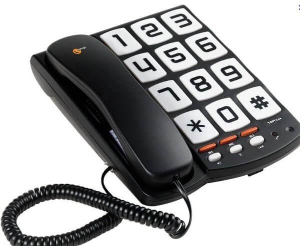 Telefoontoestel met extra grote toetsen .Voor een optimaal gebruiksgemak, en met regelbaar belvolume. Speciaal ontwikkelt voor slechtziende en slechthorende.