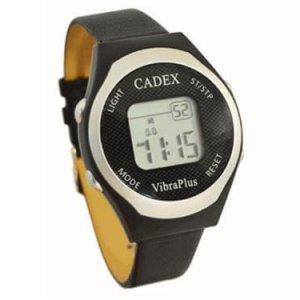 medicijnhorloge voor volwassenen Cadex Vibra Plus met maximaal 8 alarmmeldingen per dag met geluid en trilfunctie. Een hoogwaardig en betrouwbaar medicijnhorloge