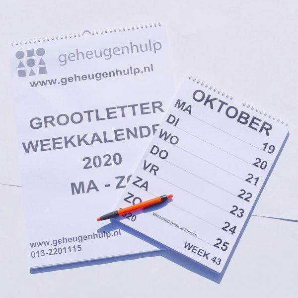 Groot letter weekkalender