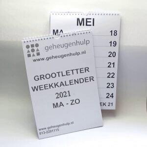 A3 weekkalender 2021