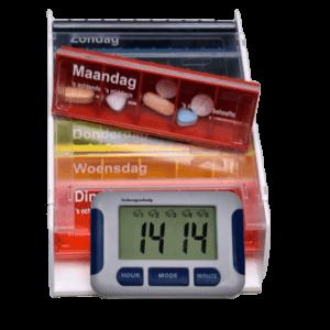 Combinatie medicijn alarm en Anabox weeklader.