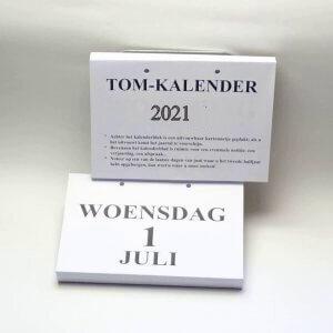 A4 tom dagkalender 2021