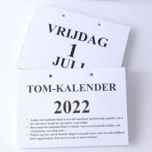 Groot-letter A4 dagkalender 2022. (TOM kalender)