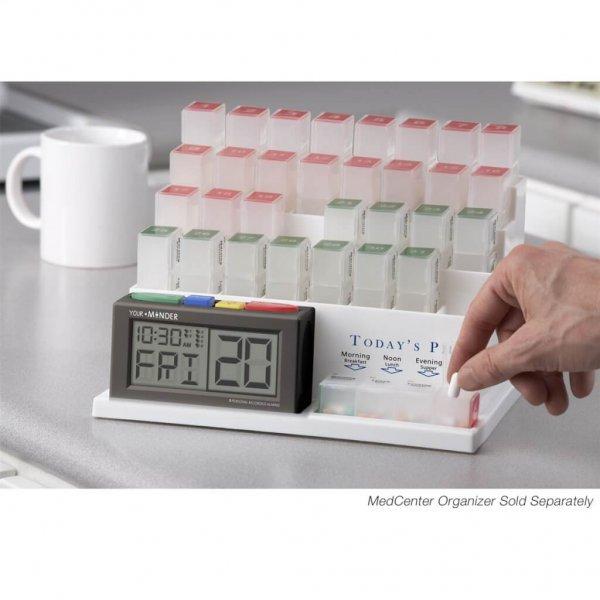 Medicijn maandlader en medcenter-alarm met gesproken boodschap