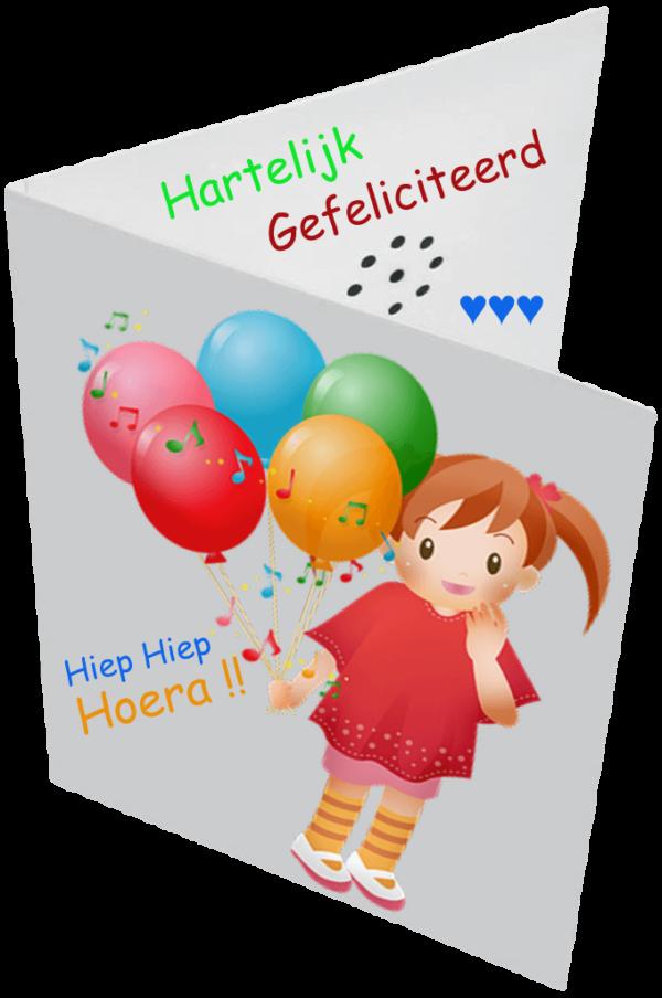 Sprekende Kaart met eigen boodschap. verjaardag kind