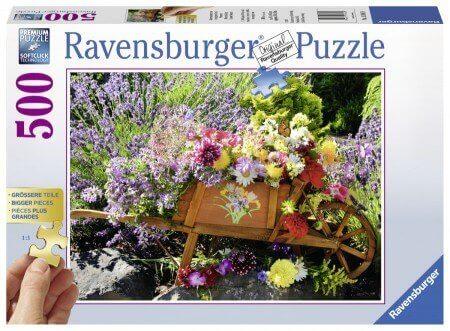 XL-legpuzzel Bloemschikking met 500 extra grote puzzelstukken