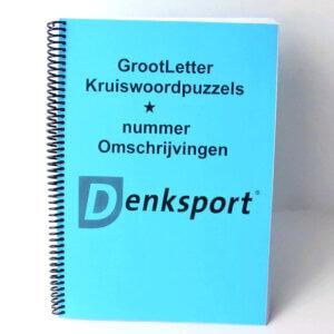 Denksport Groot letter kruiswoord puzzelboeken.