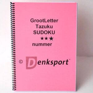 Denksport Groot letter Sudoku's. Heerlijk puzzelen!