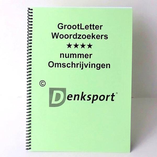 Denksport Groot letter Woordzoekers. Heerlijk puzzelen!