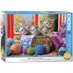 XL-legpuzzel Kittens in het breimandje