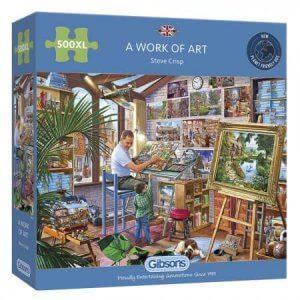 XL-legpuzzel Kunstschilder