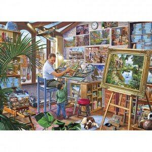 XL-legpuzzel Kunstschilder met 500 extra grote stukjes
