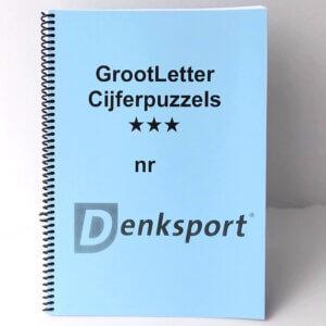 Denksport Groot letter Cijferpuzzels