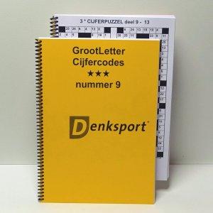Denksport Groot letter Cijfercodes