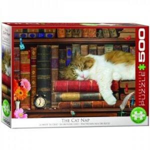 XL-legpuzzel Slapende kat