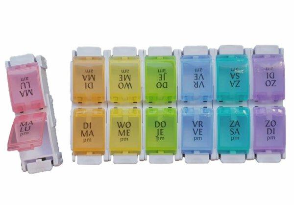 kleurrijke medicijndoos
