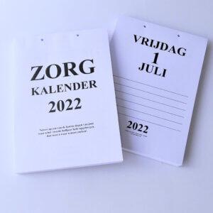 Groot-letter A4 zorgkalender 2022. (dagscheurkalender)
