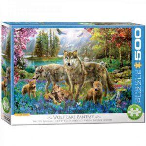 XL-legpuzzel Wolven bij het meer