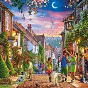 XL-legpuzzel Mermaid Street in de plaats Rye in Engeland met 500 extra grote stukjes