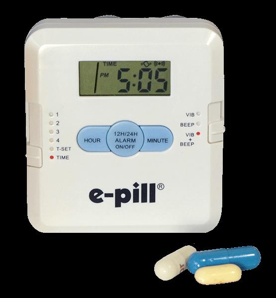 Medicijnalarm met 4 krachtige tril- en/of geluid alarmen