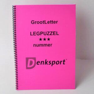 Denksport Groot letter Legpuzzelboek met Leg-, Blok- en Cijferpuzzels