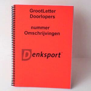 Denksport Groot letter Doorlopers