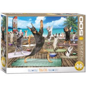 XL-legpuzzel Dieren Yoga aan het water